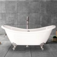 69 In Acrylic White Clawfoot Freestanding Bathtub (DK-MEC3140)