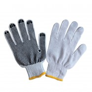 PVC-Dotted Cotton Knitted Working Gloves, 50g/pair, 12pairs/pack (DK-OD011-3)