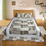 3-Piece Quilt Set, Leopard Print Patchwork, Queen (DK-WX018)