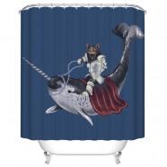 "Bathroom Waterproof Shower Curtain, 70"" W x 72"" H (DK-YT008)"