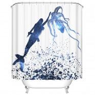 "Bathroom Waterproof Shower Curtain, 70"" W x 72"" H (DK-YT017)"