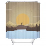"Bathroom Waterproof Shower Curtain, 70"" W x 72"" H (DK-YT024)"