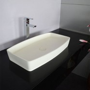 White Artificial Stone Above Counter Bathroom Vessel Sink (DK-HB9001)