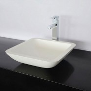 White Artificial Stone Above Counter Bathroom Vessel Sink (DK-HB9003)
