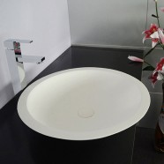 White Artificial Stone Above Counter Bathroom Vessel Sink (DK-HB9004)