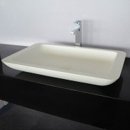 White Artificial Stone Above Counter Bathroom Vessel Sink (DK-HB9013)