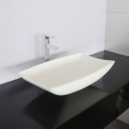 White Artificial Stone Above Counter Bathroom Vessel Sink (DK-HB9016)