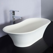 White Artificial Stone Above Counter Bathroom Vessel Sink (DK-HB9024)