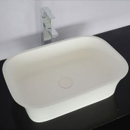 White Artificial Stone Above Counter Bathroom Vessel Sink (DK-HB9030)