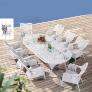 9 Pieces Dining Set: 1 * Dining Table, 8 * Chair (JMS-6063)