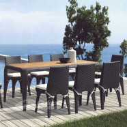 9 Pieces Dining Set: 1 * Dining Table, 8 * Armless Chair (JMS-6173A)