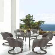 7 Pieces Dining Set: 1* Dining Table, 6 * Chair (JMS-9645)