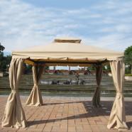 11.48 ft. x 11.48 ft. Roman Style Outdoor Cabin Gazebo (LM-002-3)