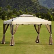 9.84 ft. x 11.81 ft. Roman Style Outdoor Cabin Gazebo (LM-003)