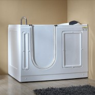 51 x 30 In Walk-in Whirlpool Soaking Bathtub - Acrylic White with Left Drain (DK-MQ380-L)