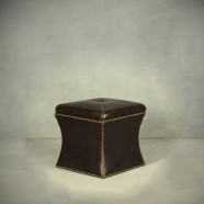 Leather Storage Ottoman (PJO078)