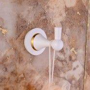 Single Robe Hook - White Painting Brass (80353D)