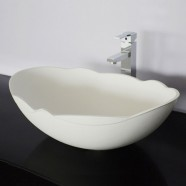 White Artificial Stone Above Counter Bathroom Vessel Sink (DK-HB9040)