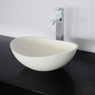 White Artificial Stone Above Counter Bathroom Vessel Sink (DK-HB9041)
