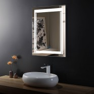 32 x 24 In Vertical LED Bathroom Mirror with Anti-fog Function (DK-OD-CK150-W)