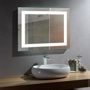 28 x 36 In Horizontal LED Bathroom Mirror with Anti-fog and Bluetooth Function (DK-OD-CK010-B)