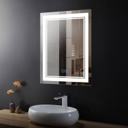 28 x 36 In Vertical Dimmable LED Bathroom Mirror with Anti-fog Function (DK-OD-CK160-D)