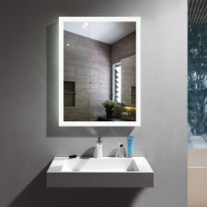 24 x 32 In Vertical LED Bathroom Mirror with Anti-fog and Clock Function (DK-OD-N031-CW)