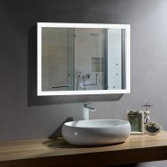 28 x 36 In Horizontal LED Bathroom Mirror with Anti-fog Function (DK-OD-N031-W1)