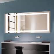 70 x 32 In Horizontal Dimmable LED Bathroom Mirror with Anti-fog and Bluetooth Function (DK-OD-CK010-T)