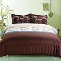 3-Piece Dark-Brown Duvet Cover Set, Queen (DK-LJ017)