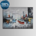 100% Hand Painted Streetscape Oil Painting (DK-JX-YH019)