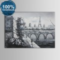 100% Hand Painted Paris Streetscape Oil Painting (DK-JX-YH010)