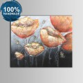 100% Hand Painted Abstract Flower Oil Painting (DK-JX-YH028)
