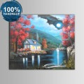 100% Hand Painted Abstract Moonlight Oil Painting (DK-JX-YH045)