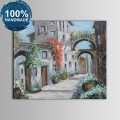 100% Hand Painted Abstract Building Oil Painting (DK-JX-YH034)