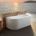 67 In Back to Wall Freestanding Bathtub with Drain - Acrylic White (DK-CV1701)