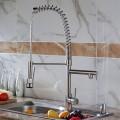 Modern Kitchen Faucet - Brass in Brushed Nickel (82H03-BN)