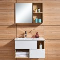 39 In. Wall-Mount Bathroom Vanity Set with Mirror and Side Cabinet (DK-675100)