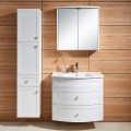 31 In. Wall-Mount Bathroom Vanity Set with Mirror Cabinet and Side Cabinet (DK-677800)