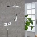 Bathroom Single Handle Tub and Shower Faucet - Brass with Chrome Finish (7571)