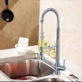 Brushed Nickel Finished Brass Kitchen Faucet - Pull Out Spray Head (82H07-BN)