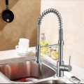 Chrome Finished Brass Kitchen Faucet - Pull Out Spray Head (82H07-CHR-S)