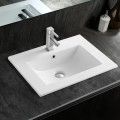 White Rectangle Ceramic Bathroom Vanity Basin (CL-4001-60)