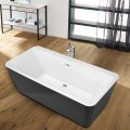67 In Freestanding Bathtub - Acrylic Black (DK-SLD-YG872B)