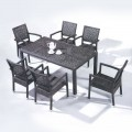 7 Pieces Dining Set: 1 * Dining Table, 6 * Chair (JMS-6121)