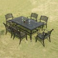 7 Pieces Dining Set: 1 * Dining Table, 6 * Chair (ZL-914)