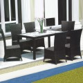 PE Rattan 7 Pieces Dining Set: 1 * Dining Table, 6 * Chair (LLS-6055+1055)