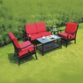 5 Pieces Dining Set: 1 * Coffee Table, 2 * Chair, 1* Loveseat, 1 * End Table (LLS-CA032)