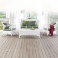 4-Piece PE Rattan Sofa Set: 1 * Loveseat, 2 * Lounge Chair, 1 * Coffee Table (LLS-363)
