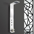 White Stainless Steel Thermostatic Shower Panel System (LYB-5527-BL)